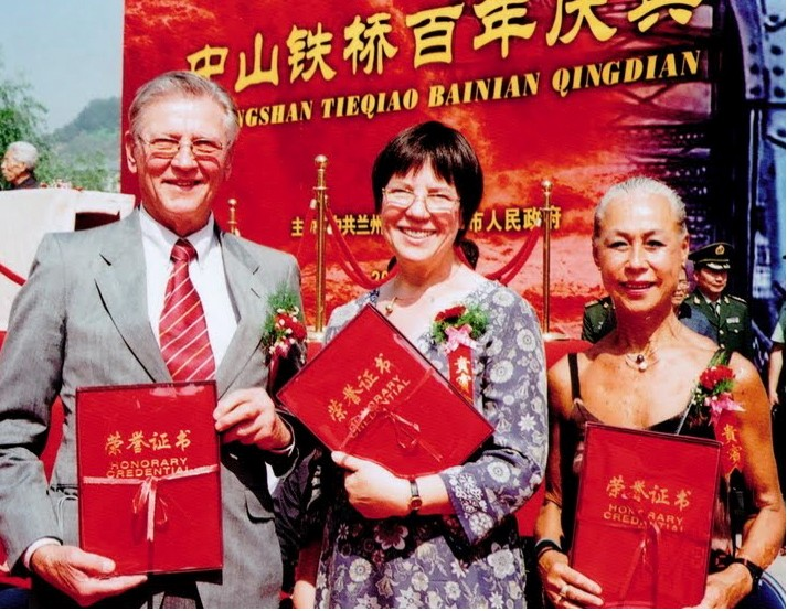 Frank Ann and Angela with Their Lanzhou Certificates of Citizenship