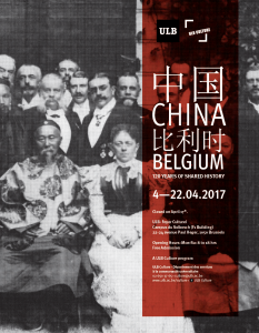 Poster for China-Belgium Exposition
